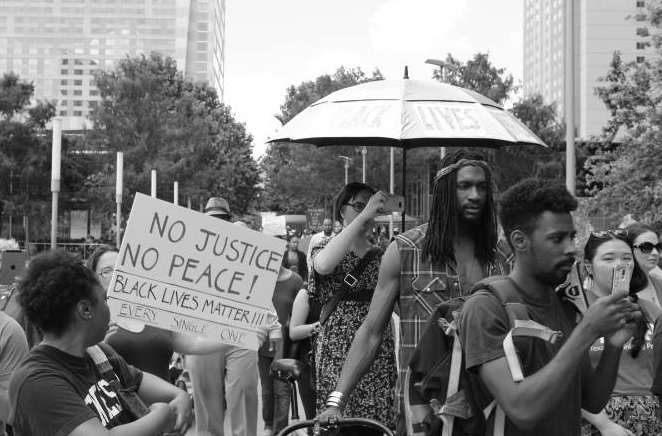 A march through downtown Houston on July 7, 2016, organized by the author.